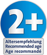Recommended age: suitable from 2 years upwards for playing indoors and outdoors