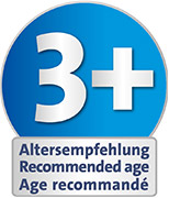 Recommended age: suitable from 3 years upwards for playing indoors and outdoors