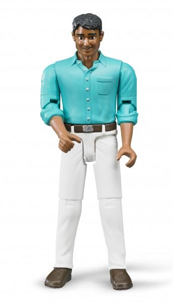 Mann mit mittlerem Hauttyp und weißer Hose