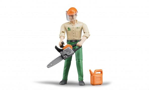 Forstarbeiter mit Zubehör
