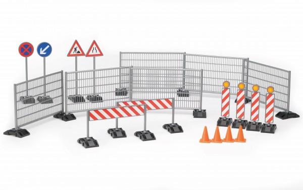 Zubehör Baustellenset: Zäune, Schilder und Pylonen