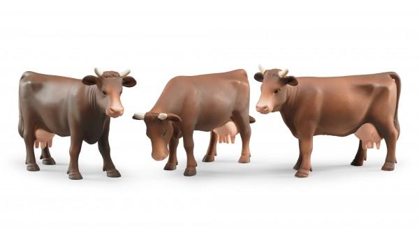 Kuh (Kopf rechts, Kopf unten oder Kopf links)