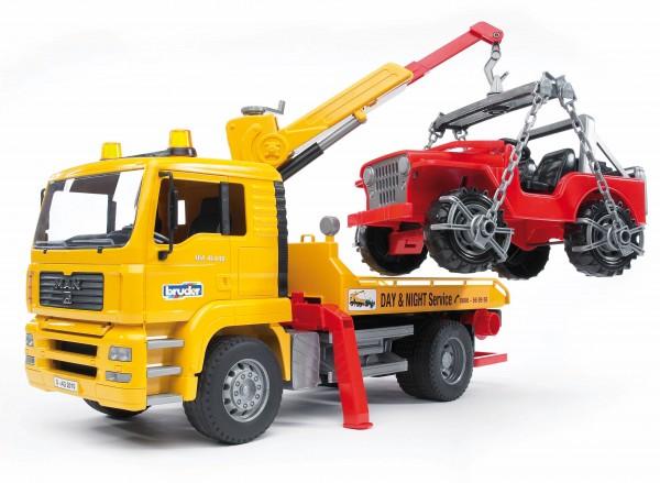 MAN TGA Abschlepp-LKW mit Geländewagen (ohne Light and Sound Modul)