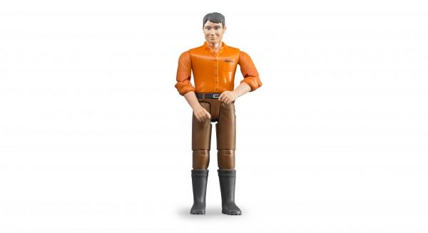 Mann mit hellem Hauttyp und brauner Hose