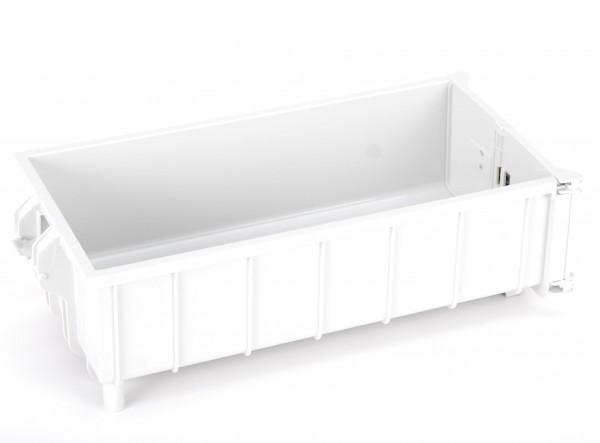 Abrollcontainer weiß