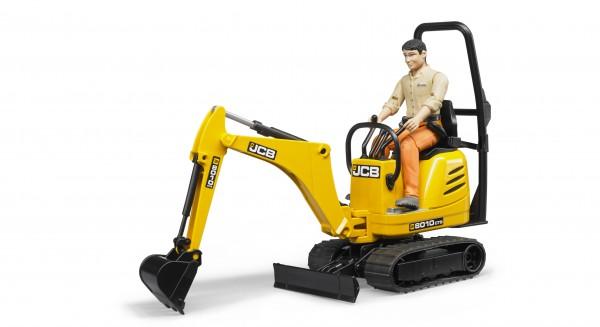 JCB Mikrobagger 8010 CTS und Bauarbeiter