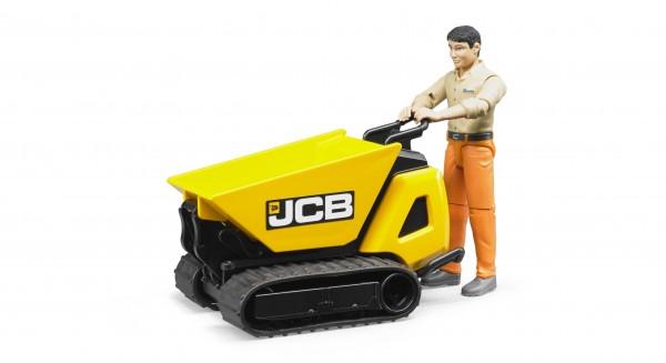 JCB Dumpster HTD-5 mit Bauarbeiter