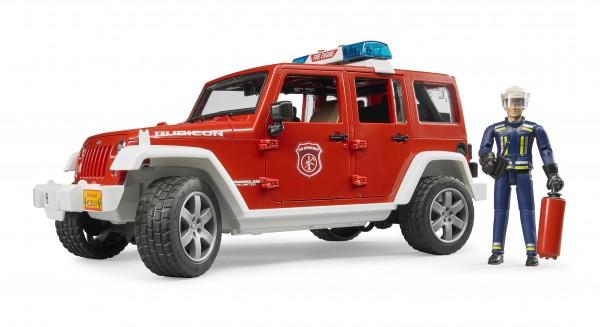 Jeep Wrangler Unlimited Rubicon Feuerwehrfahrzeug mit Feuerwehrmann