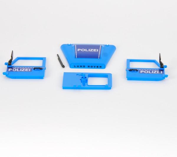 Türen Land Rover Polizei Blau