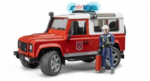 Land Rover Defender Station Wagon Feuerwehr-Einsatzfahrzeug mit Feuerwehrmann inkl. Feuerlöscher