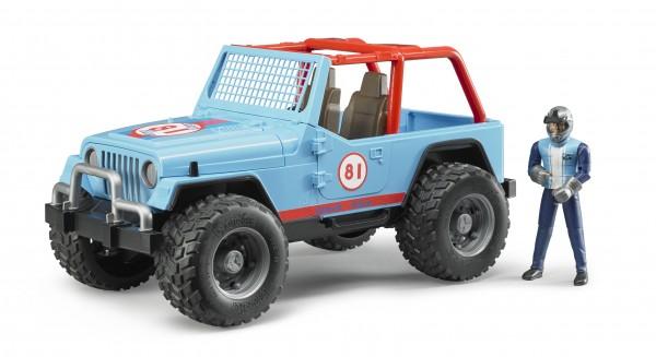 Jeep Cross Country Racer blau mit Rennfahrer