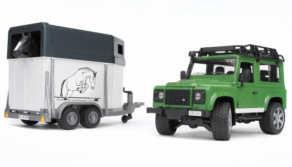 Land Rover Defender mit Pferdeanhänger inkl. 1 Pferd