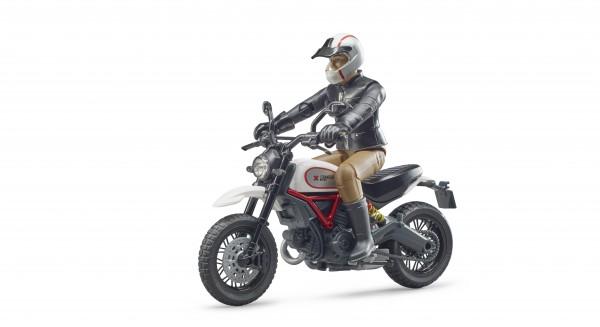 Scrambler Ducati Desert Sled mit Fahrer